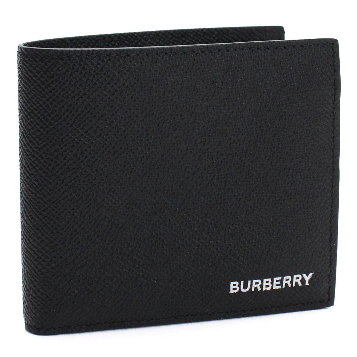 バーバリー BURBERRY 2つ折り財布 8014656 A1189 BLACK ブラック 【メンズ】【キャッシュレス 5% 還元】