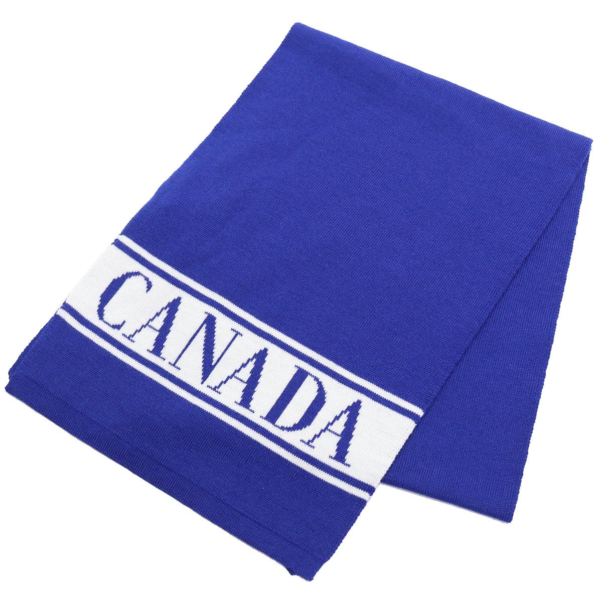 カナダグース CANADA GOOSE KIDS MERINO LOGO SCARF キッズ-マフラー 6955K 260 BLUE ブルー系 bos-16 warm-01