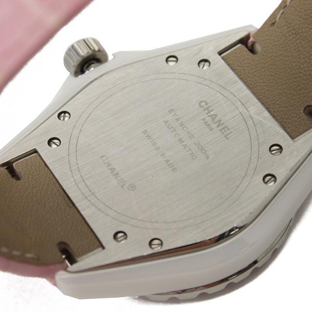 샤넬 (CHANEL) J12 오토매틱 ピンクサファイアベゼル 시계 H1337 핑크 계