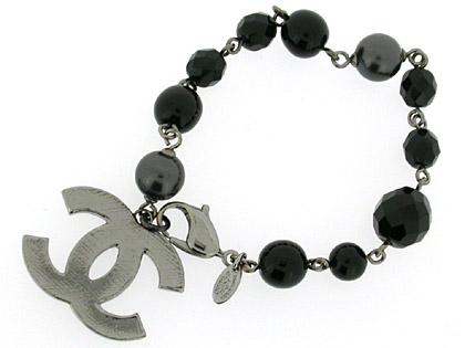 Chanel Bracelet A37291 Black Metal