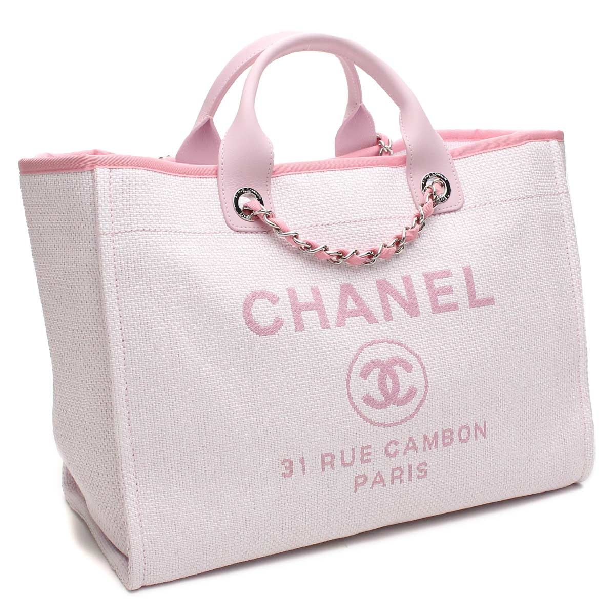 05ce69bf23d1 Bighit The total brand wholesale  ( tax free ! )Light pink Chanel tote bag  A66941( taxfree send by EMS authentic A brand new item )