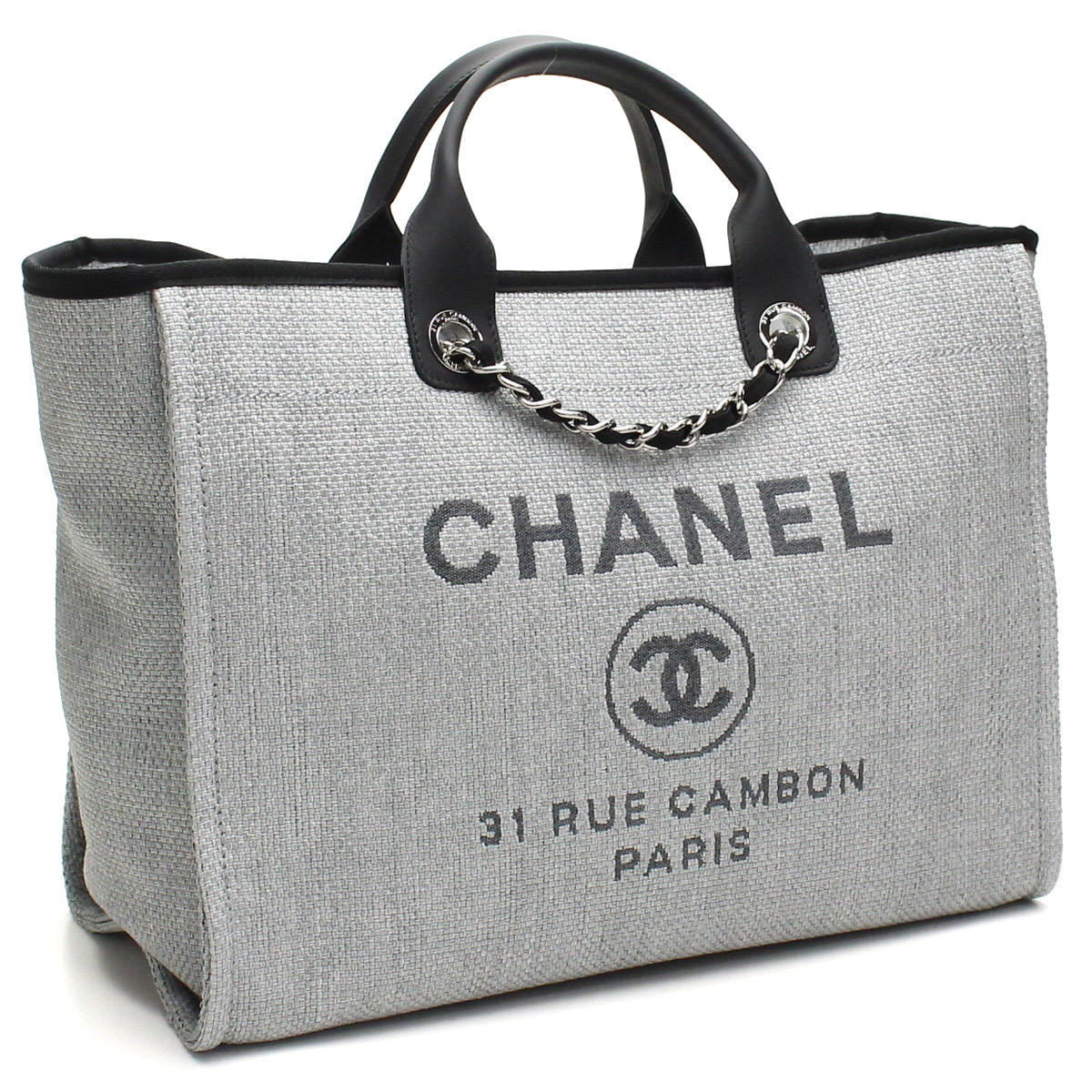 923033ac9395 Bighit The total brand wholesale  Chanel tote bag A66941 grey( taxfree send  by EMS authentic A brand new item )