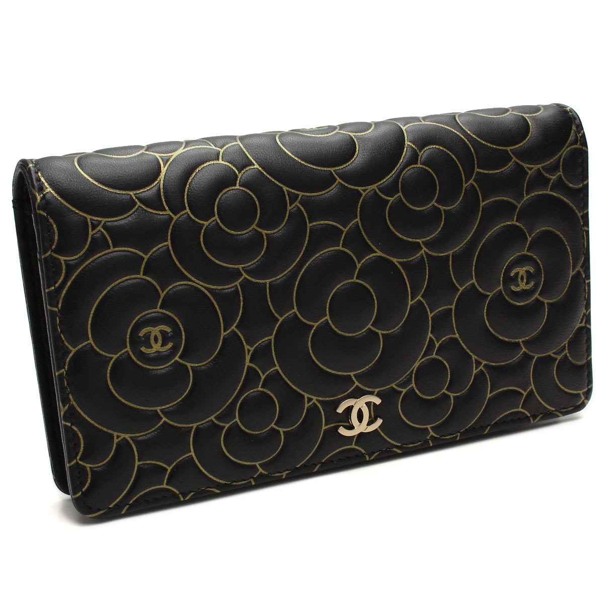 4a137b77ce0e Bighit The total brand wholesale  Chanel wallet bi-fold coin coin purse  A82282 black   gold.( taxfree send by EMS authentic A brand new item )