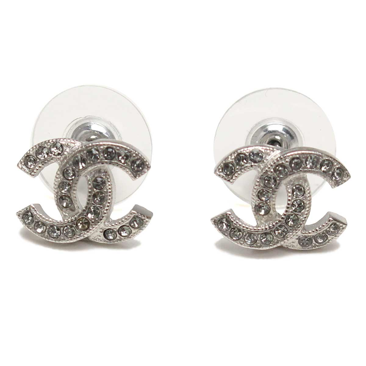 Hit The Total Brand Whole Chanel Earrings A88429 Silver And Zirconia Taxfree Send By Ems Authentic A New Item Rakuten Global
