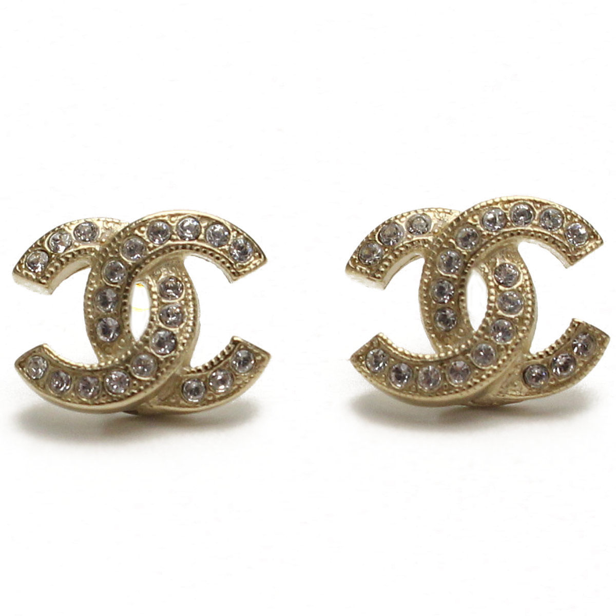 Hit The Total Brand Whole Chanel Earrings A88429 Gold And Zirconia Clear Series Taxfree Send By Ems Authentic A New Item Rakuten