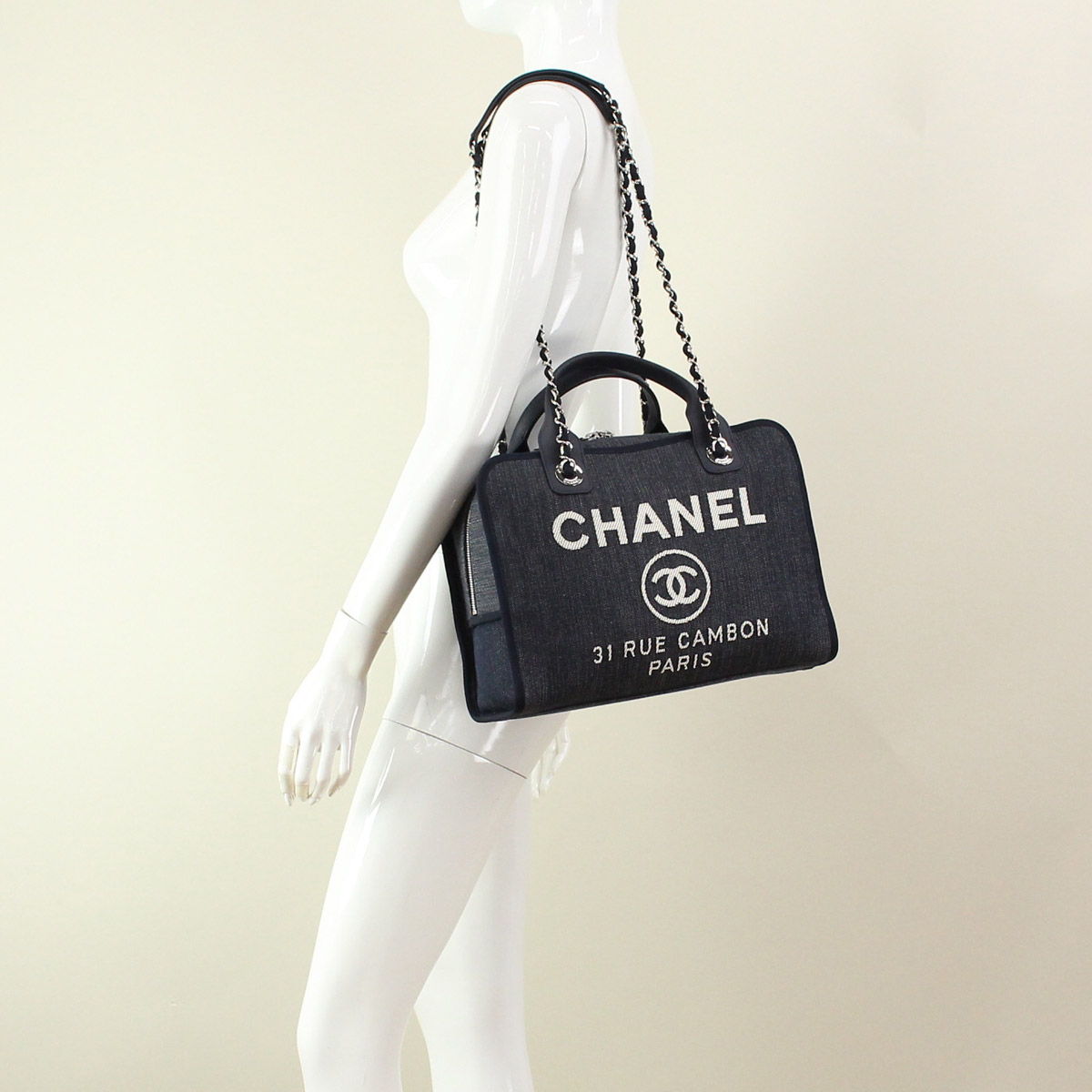 ff852b542103 Chanel handbag A92750-indigo blue( taxfree send by EMS authentic A brand  new item )