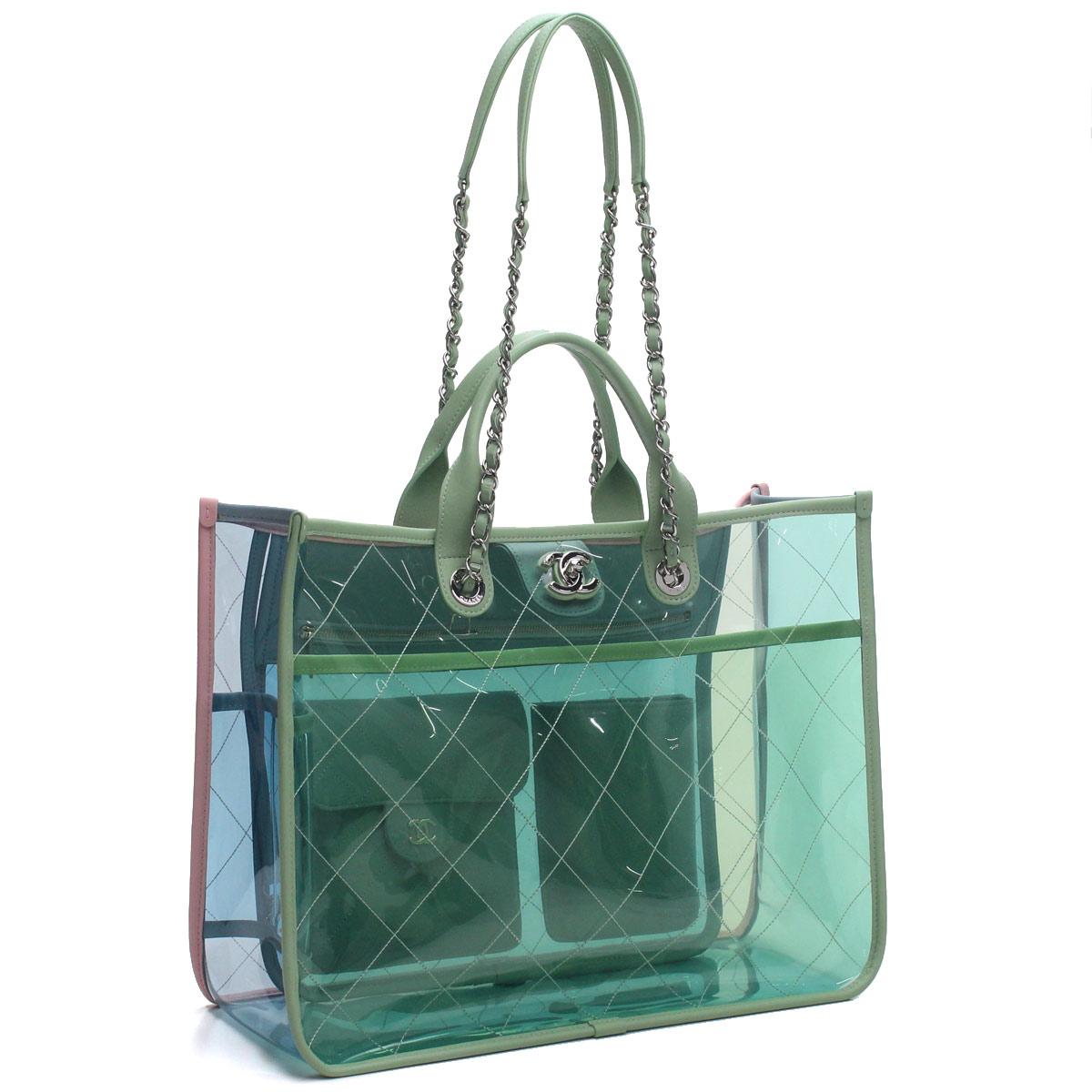 f52de00324c3 Bighit The total brand wholesale: Chanel CHANEL clear PVC large shopping bag  tote bag A57411 green system | Rakuten Global Market