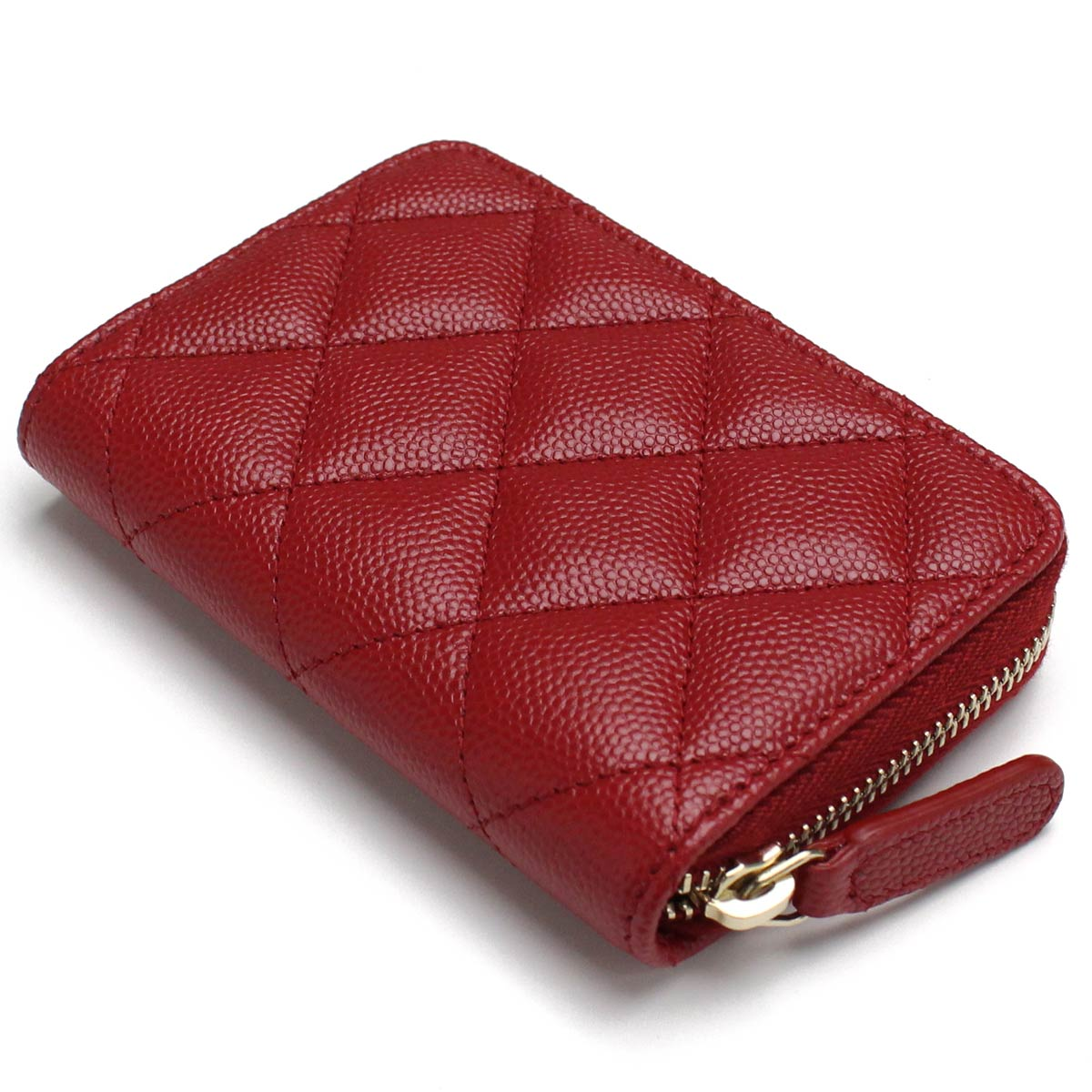 6cfb2d7765f07c ... Chanel CHANEL caviar skin matelasse round fastener coin purse coin case  A69271 red system