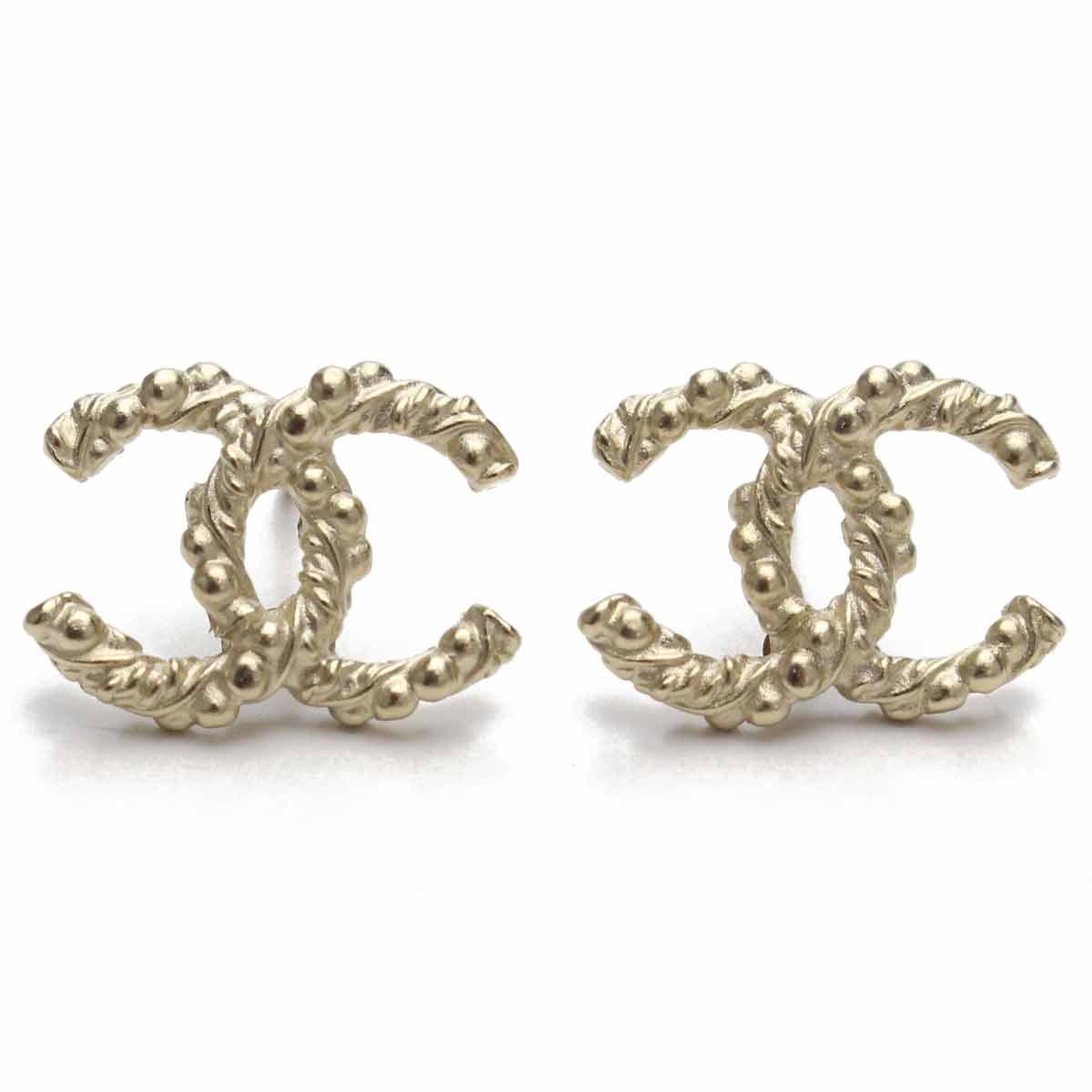 Chanel (CHANEL) here mark pierced earrings A95900 gold system
