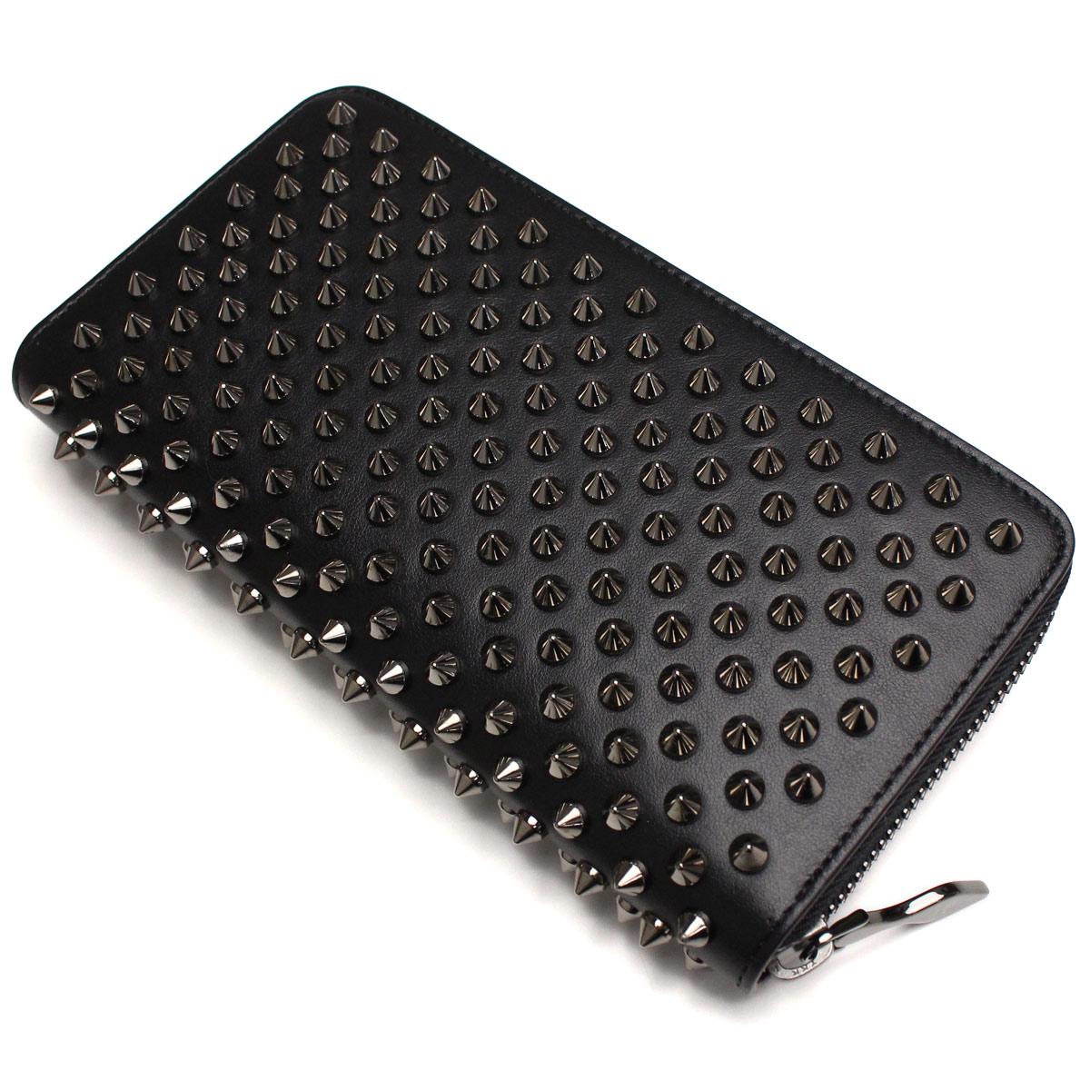 크리스챤 르 부탄 (Christian Louboutin) 지갑 라운드 패스너 1165065-B078 BLACK/GUNMETAL 블랙