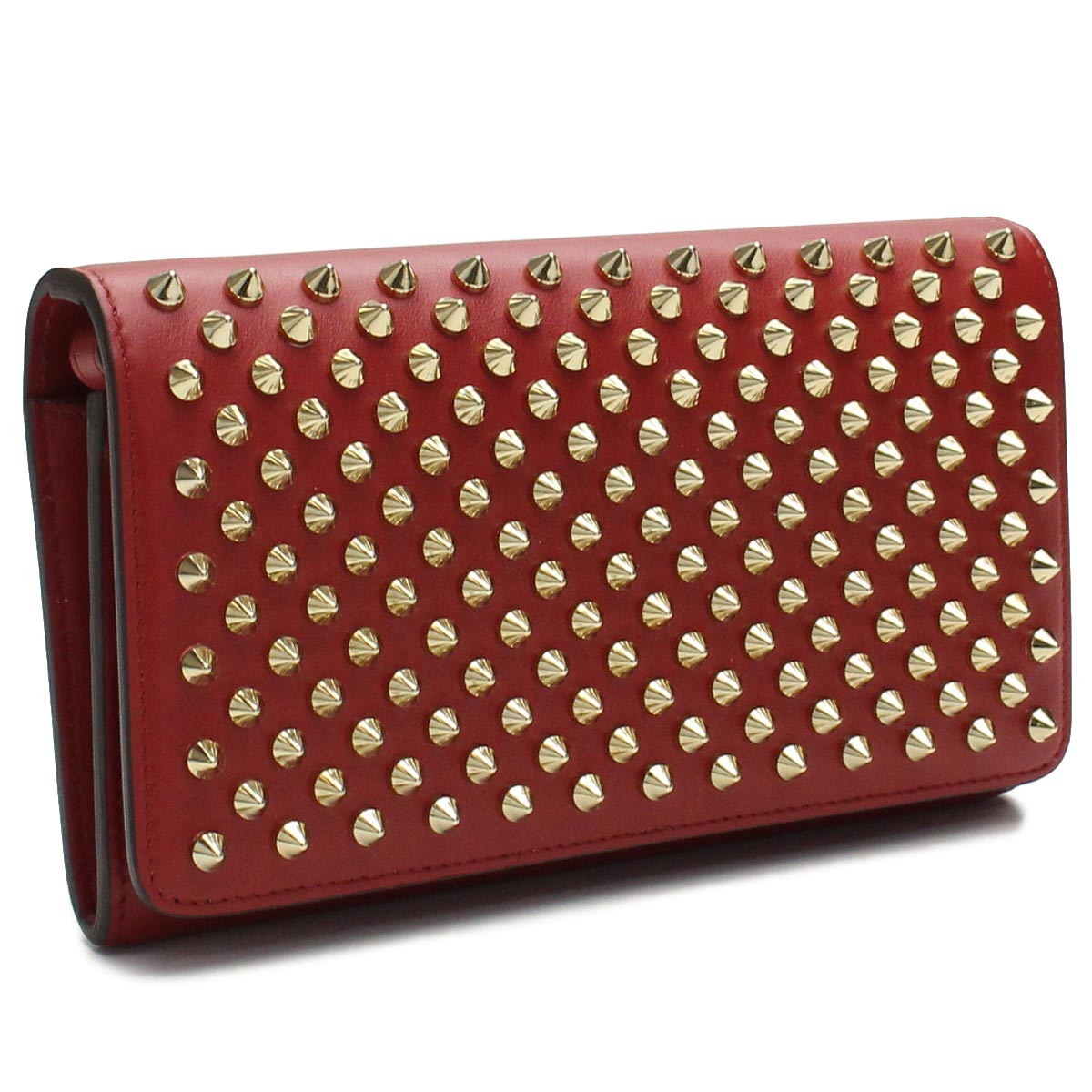 7fb49612f4f 1165076 R108 CARMIN/GOLD red system spikes studs macaroon with the  クリスチャンルブタン Christian Louboutin wallet folio long wallet small ...