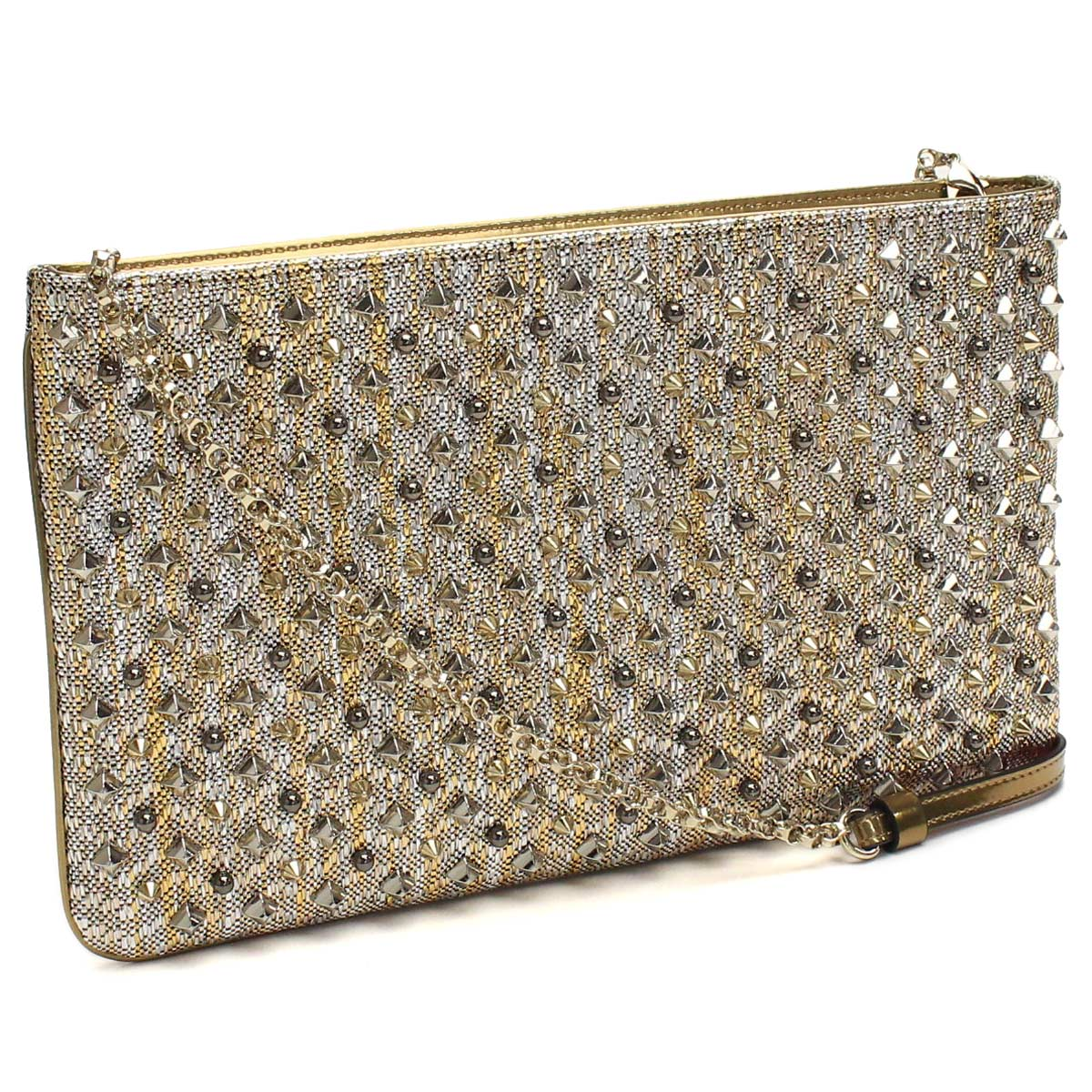 eea8c559079 Christian Louboutin (Christian Louboutin) bag 3165141 M546 METAL GOLD  SV/MULTI gold series multi-color( taxfree/send by EMS/authentic/A brand new  item ...