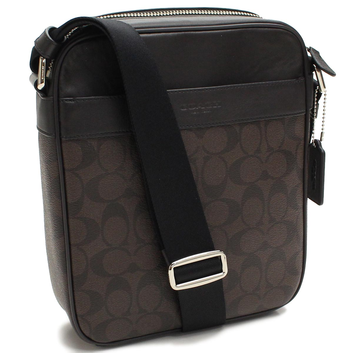 Pvc Leather Flight Bag Diagonally Over The Coach Signature Shoulder F54788 Ma Br Brown Taxfree Send By Ems Authentic A Brand New Item