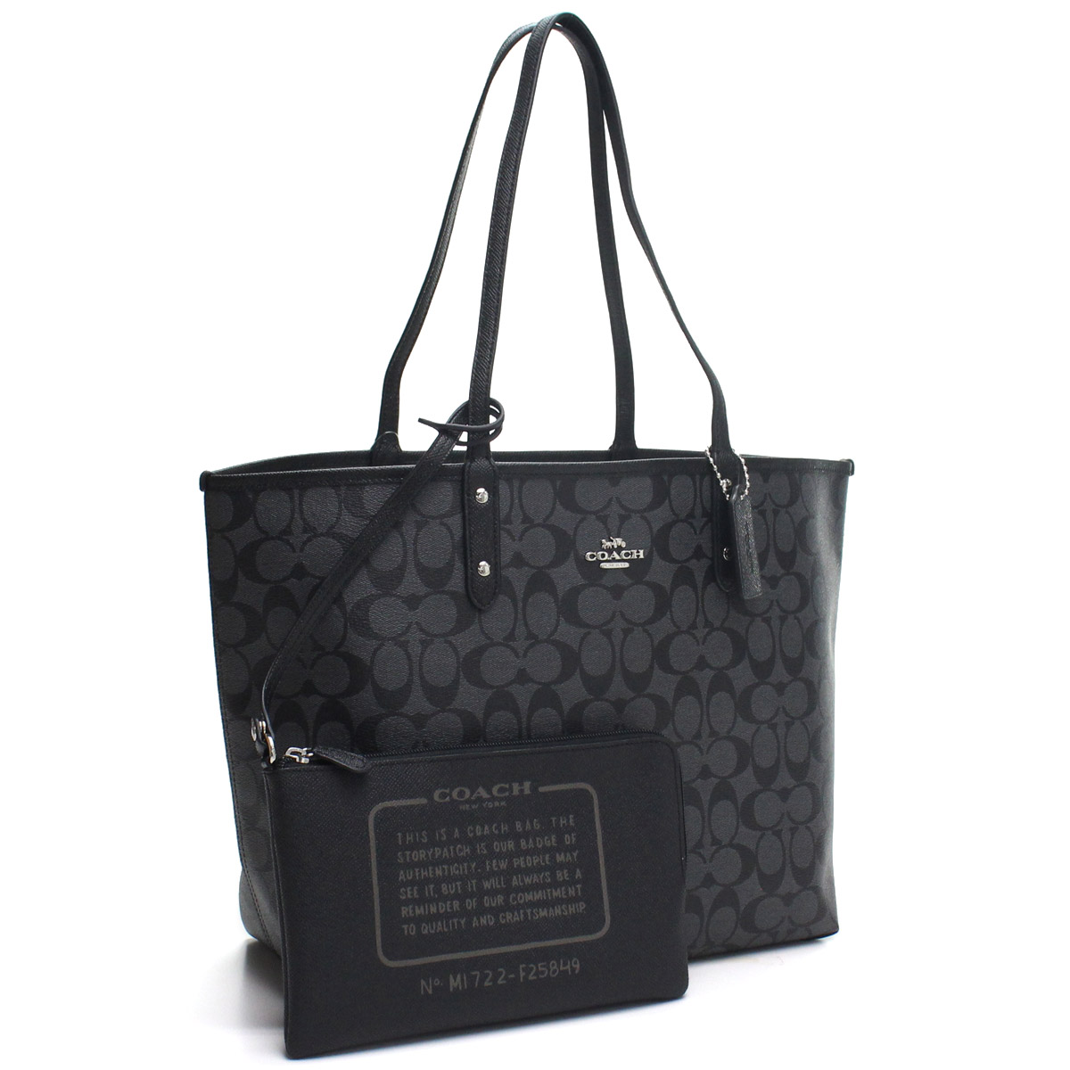 1afe125d10 Bighit The total brand wholesale  F25849 SVN45 gray system black with the coach  COACH signature reversible tote bag porch