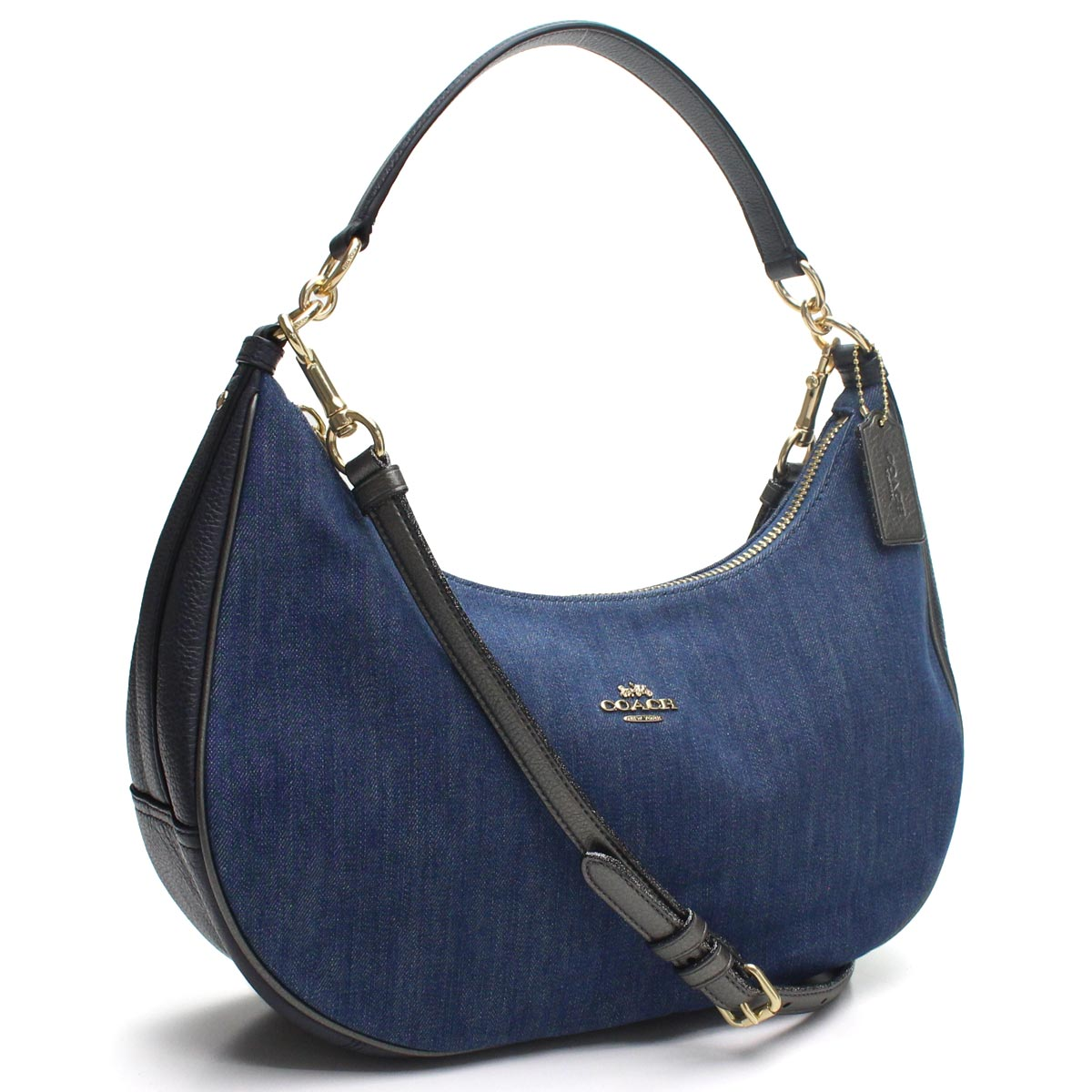 Bighit The total brand wholesale  Coach COACH denim semi-shoulder bag one  shoulder F26157 IMDEI blue system  228ef2187365b