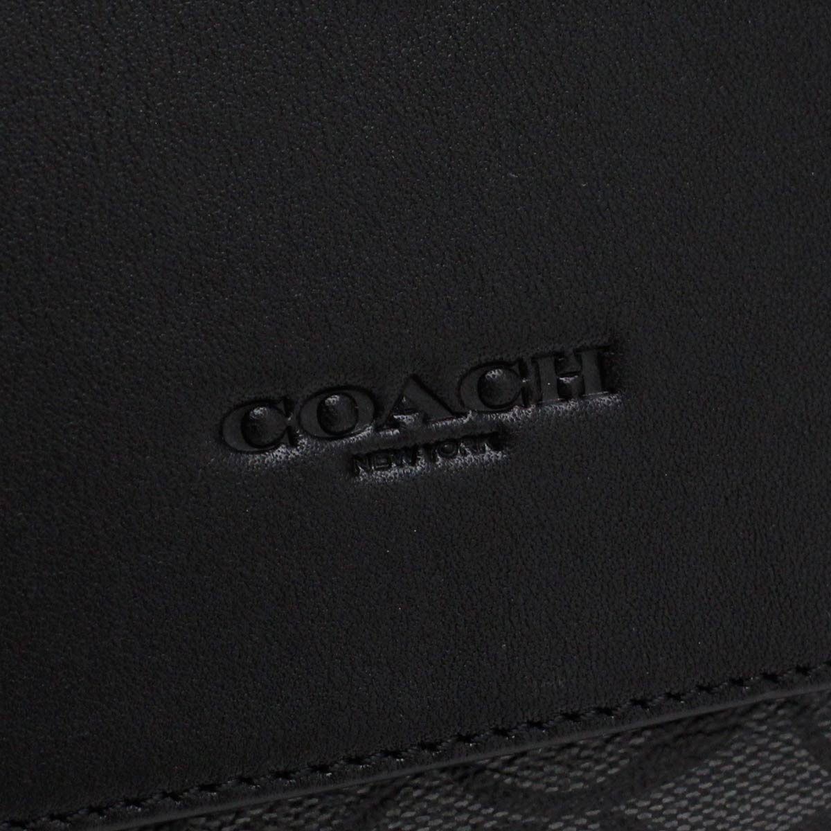 F28575 NIMI5 メッセンジャーバッグ グレー系 斜め掛け シグネチャー コーチ メンズ ブラック ショルダーバッグ COACH