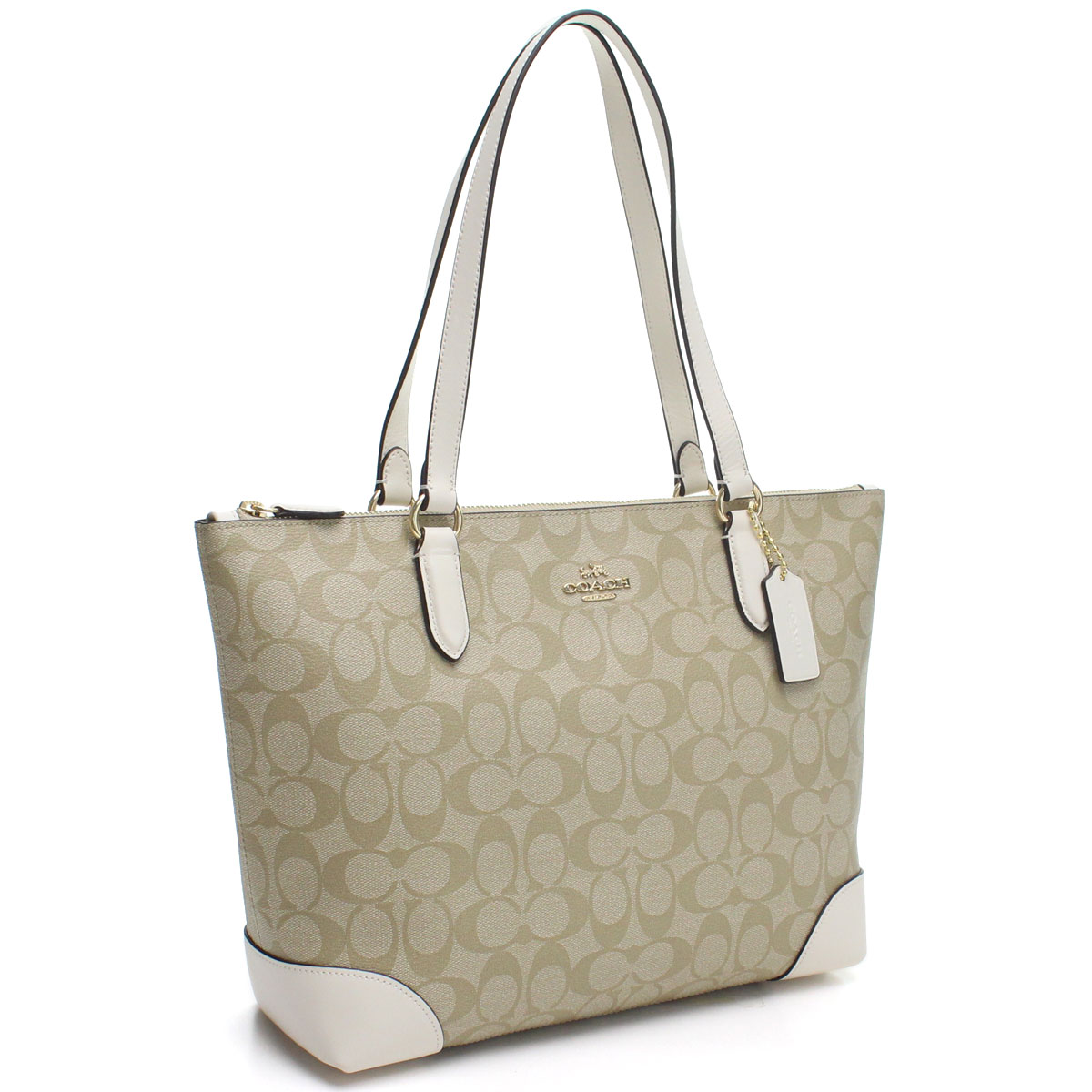 b0afcc49b570 Bighit The total brand wholesale  Coach COACH PVC coating canvas signature  tote bag F29208 IMDQC beige system white system