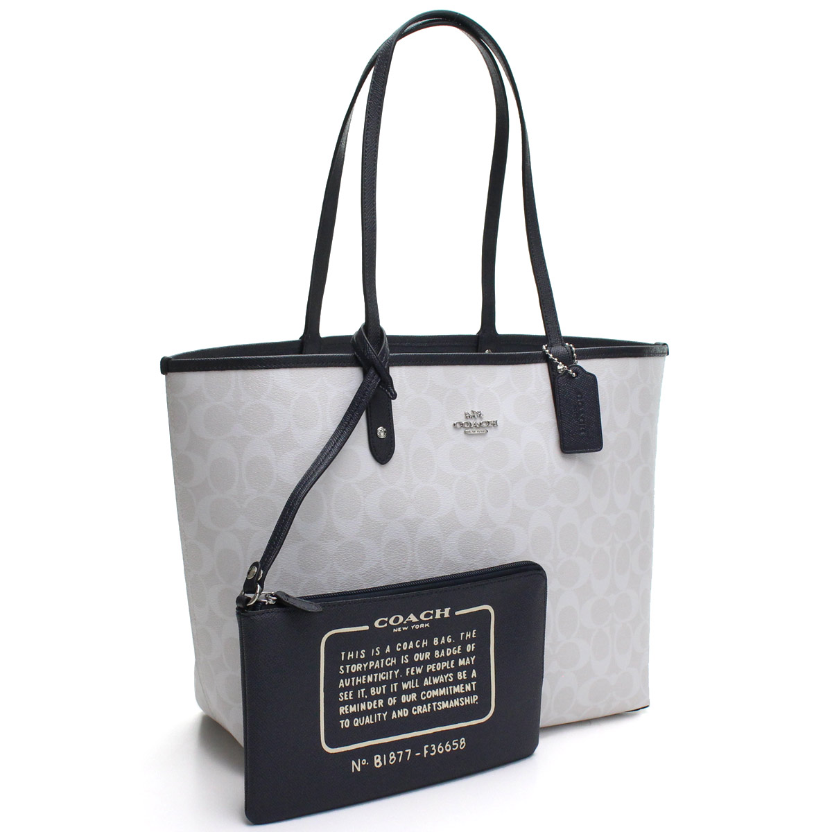 d852c331b29c Bighit The total brand wholesale  Reversible tote bag F36658 SVDYF white  system navy system with the coach COACH porch