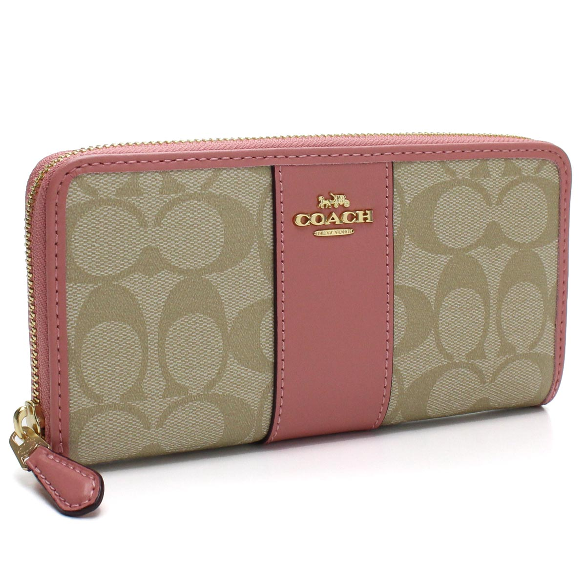50b3db2f17 Bighit The total brand wholesale: Coach COACH signature round fastener long  wallet F54630 IMNHK beige system pink system | Rakuten Global Market