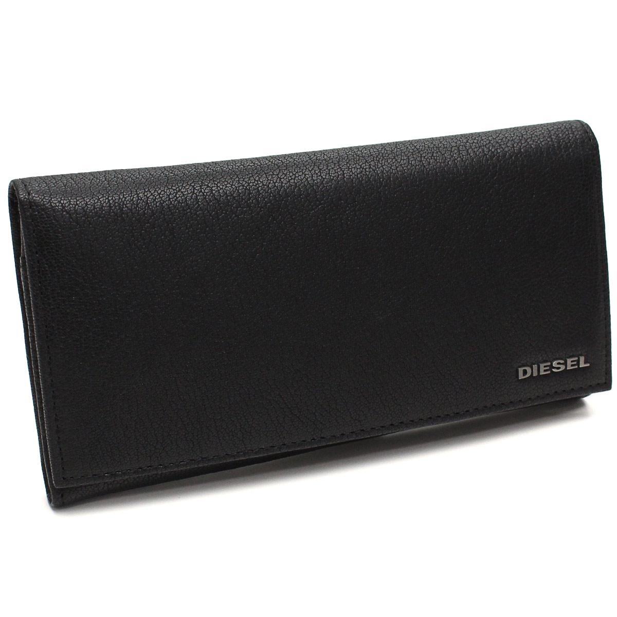 ディーゼル DIESEL 財布 二つ折り 長財布 小銭入付き X03928 PR271 T8013 ブラック メンズ