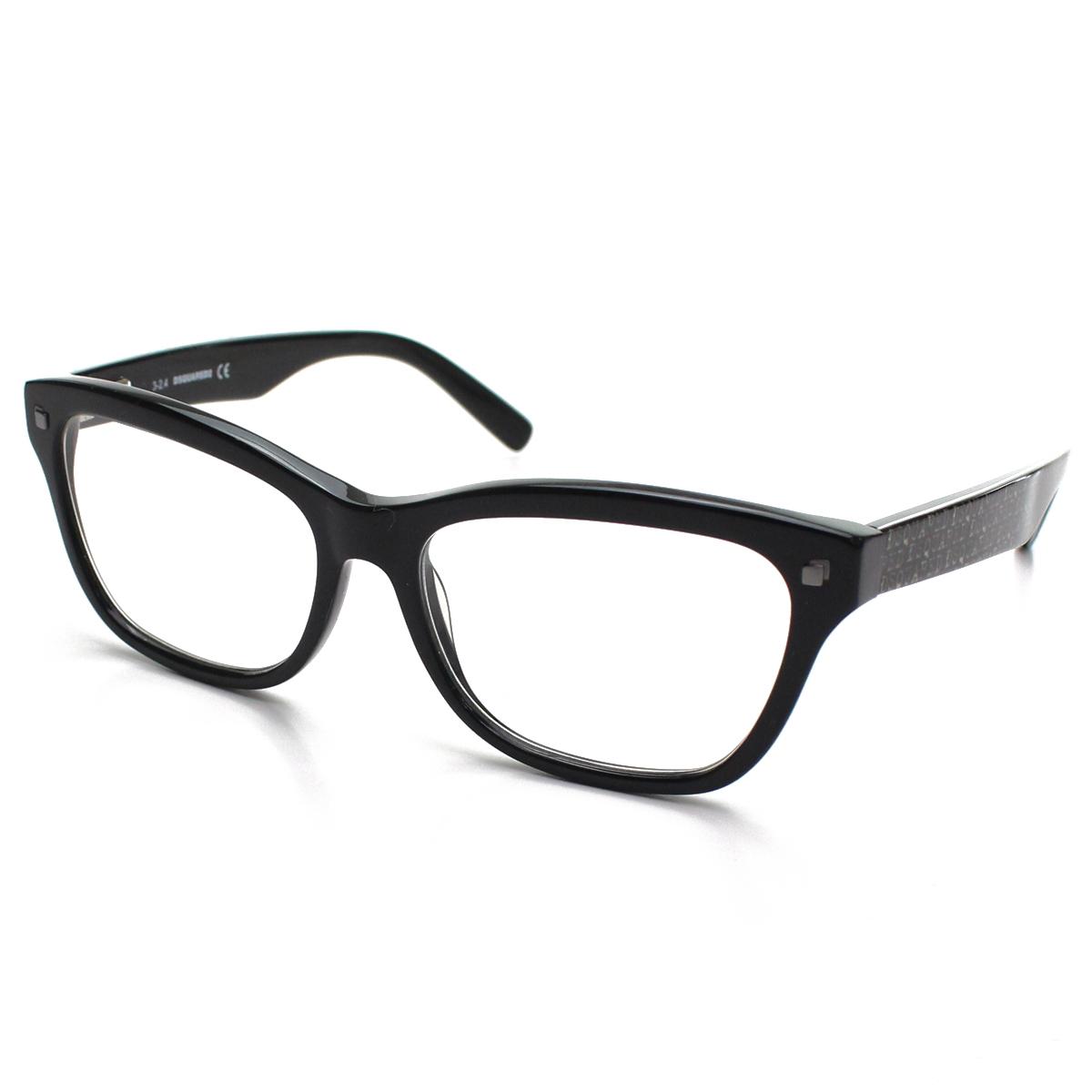 ディースクエアード DSQUARED2 ダテ眼鏡 メガネフレーム DQ5138 001 メンズ