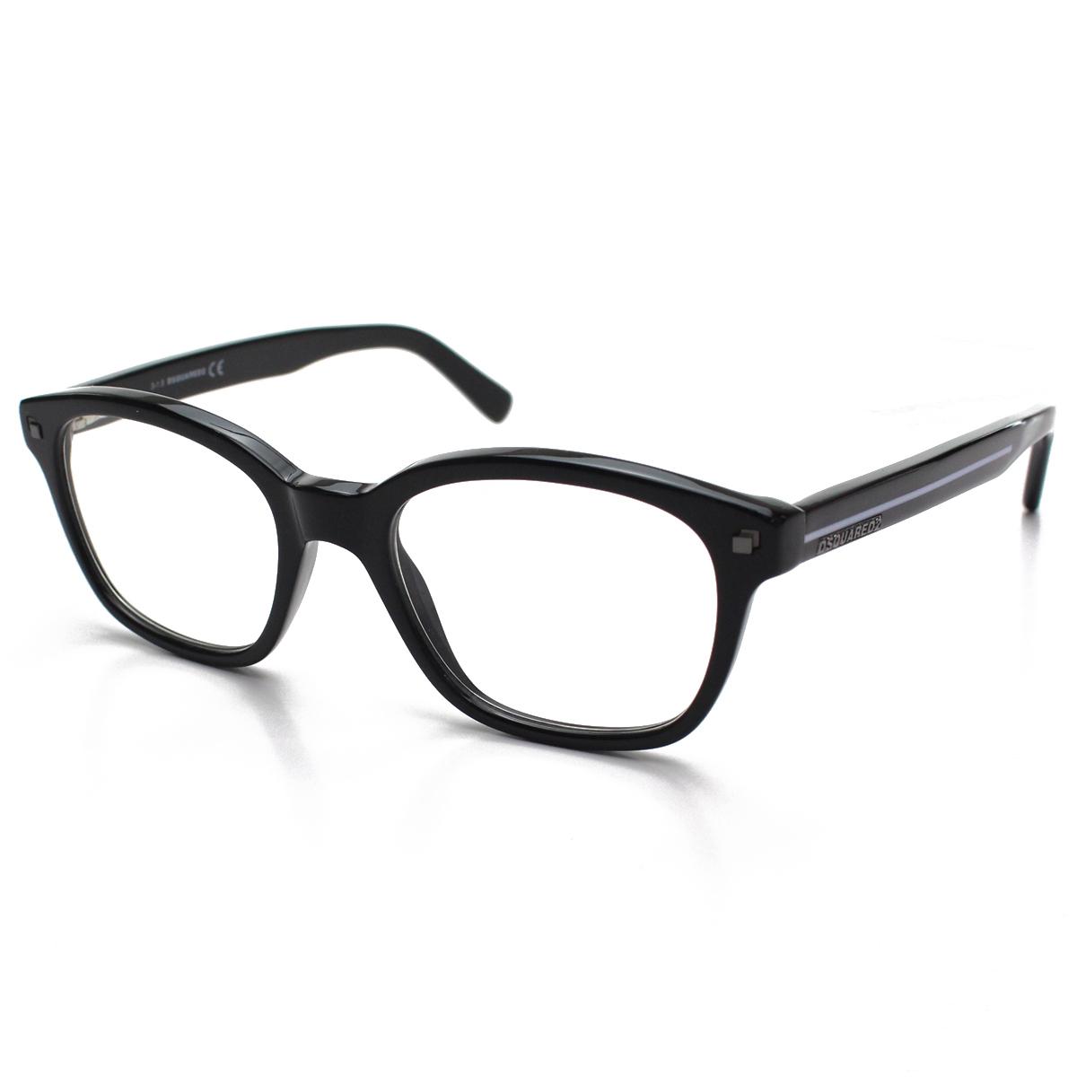 ディースクエアード DSQUARED2 ダテ眼鏡 メガネフレーム DQ5175 001 メンズ