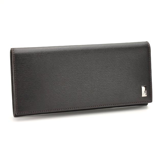 ダンヒル DUNHILL 財布 二つ折り 長財布 小銭入れ付 FP1010 ブラウン系 送料無料 メンズ