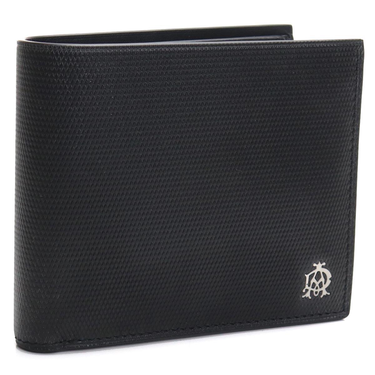 ダンヒル DUNHILL 2つ折り財布 L2AE32A ブラック メンズ