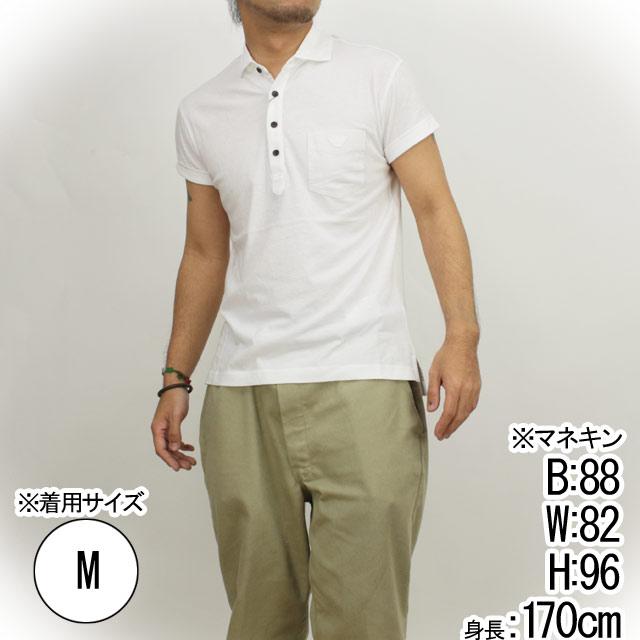 訳あり エンポリオ アルマーニ EMPORIO ARMANI メンズポロシャツ TNM66 EE 10 WHITE ホワイト サイズ#S メンズ エンポリオアルマーニ 半袖【キャッシュレス 5% 還元】