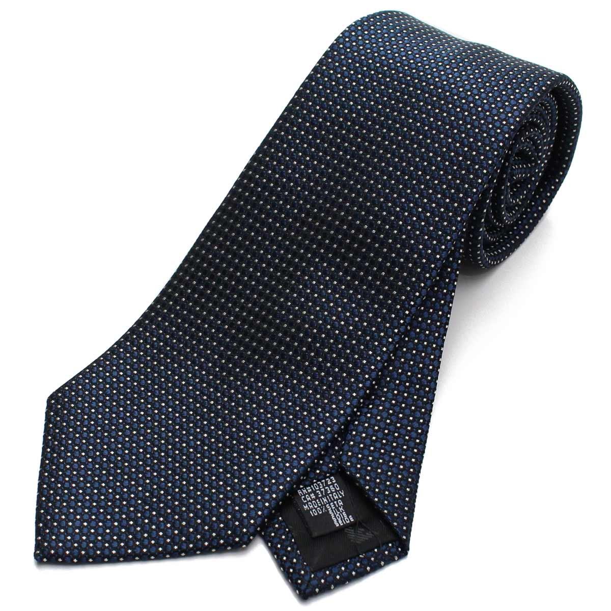 エンポリオ アルマーニ EMPORIO ARMANI ドット柄 シルク ネクタイ レギュラータイ 340182 8A314 01537 COASTAL BLUE ブルー系 メンズ