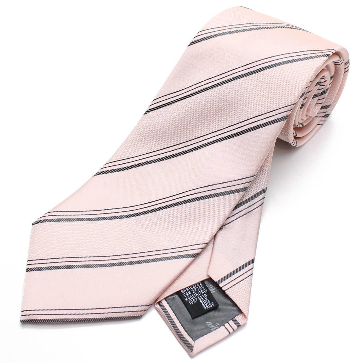 エンポリオ アルマーニ EMPORIO ARMANI ストライプ シルク ネクタイ レギュラータイ 340182 8A401 00070 PINK ピンク系 メンズ