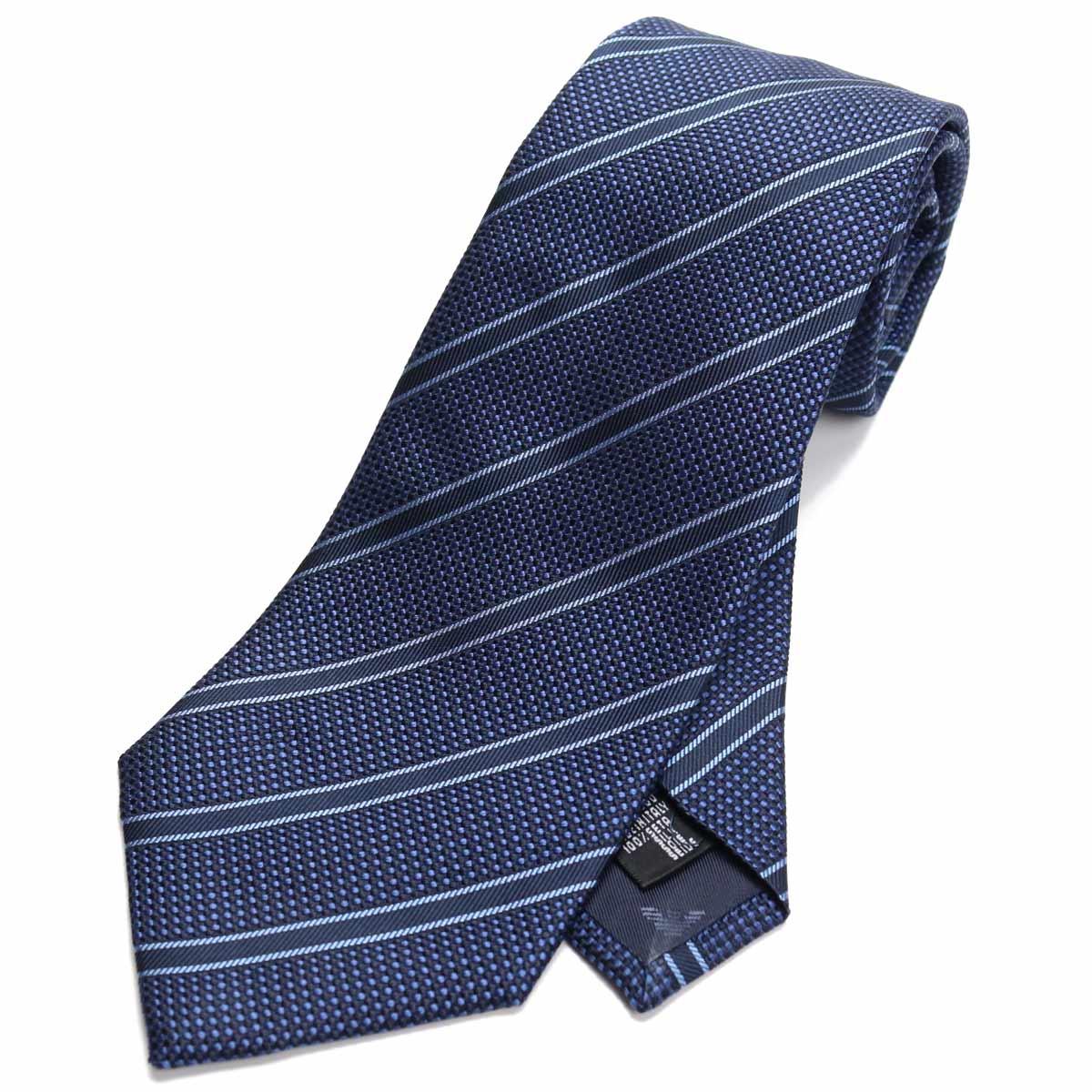 エンポリオ アルマーニ EMPORIO ARMANI ストライプ柄 ネクタイ レギュラータイ 340182 0P311 00035 BLUE ブルー系 【メンズ】