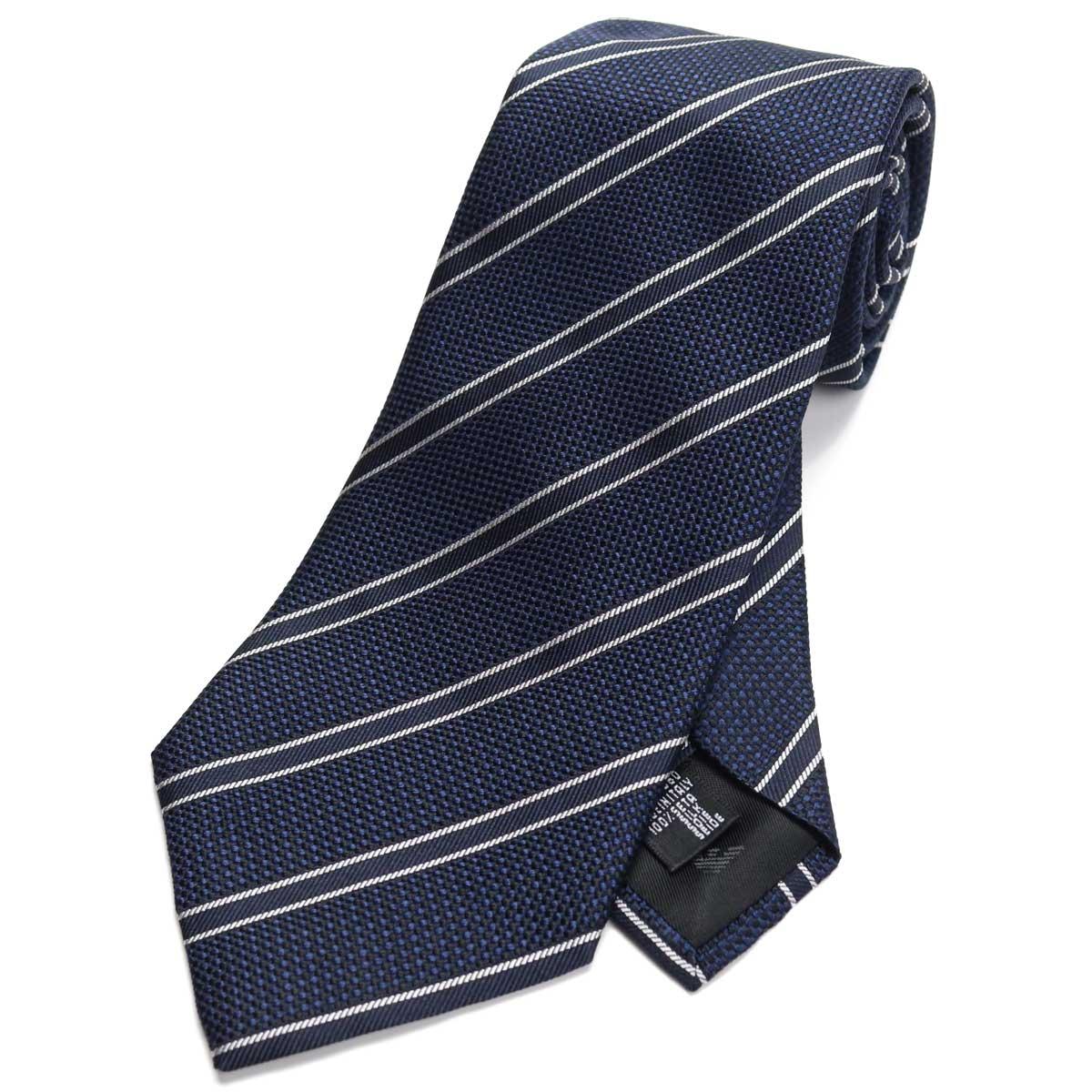エンポリオ アルマーニ EMPORIO ARMANI ストライプ柄 ネクタイ レギュラータイ 340182 0P311 09549 BLUE GRAPHITE ネイビー系 【メンズ】
