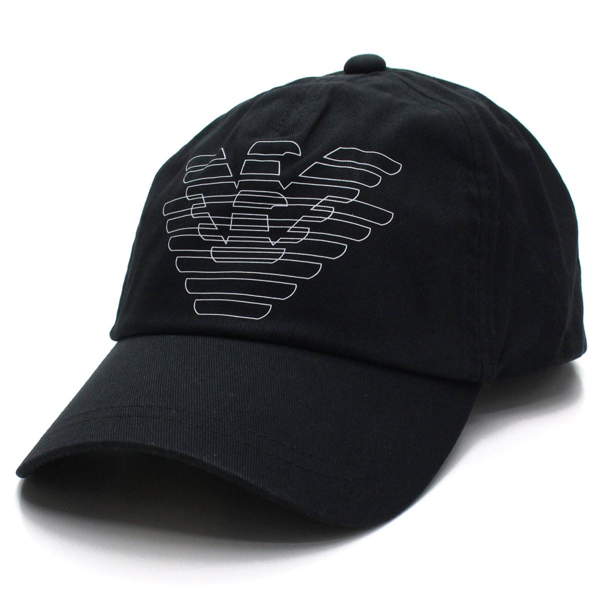 f7a5ad6f23a Bighit The total brand wholesale  Emporio Armani EMPORIO ARMANI eagle logo  cap 627523 9P555 00020 NERO black