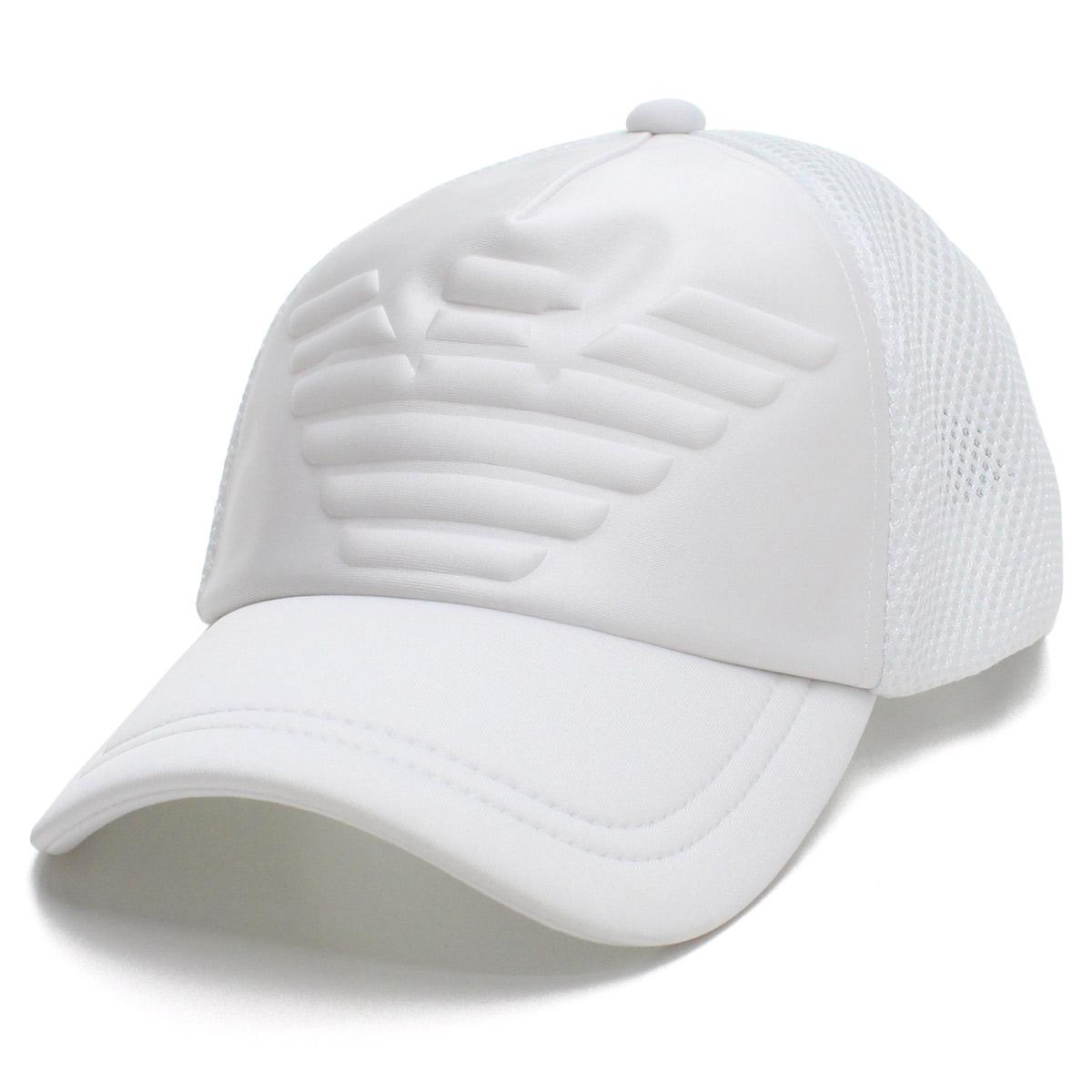 4eeb0e37cf0 Bighit The total brand wholesale  Emporio Armani EMPORIO ARMANI eagle logo  mesh cap baseball cap 627524 9P556 00010 BIANCO white system