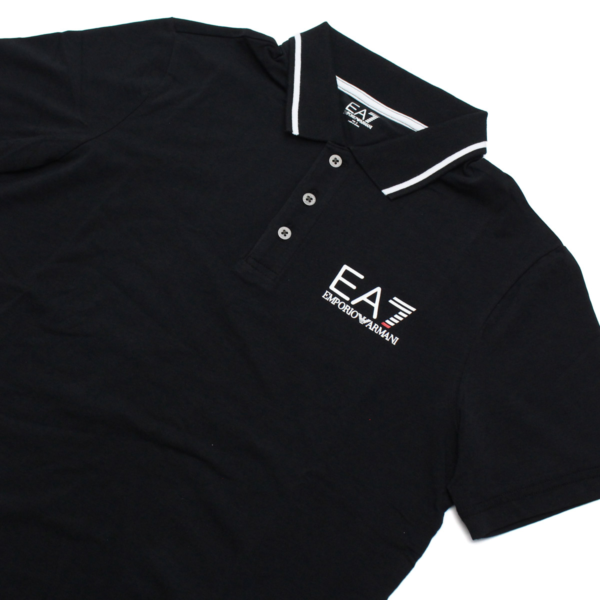 ea7 black polo shirt