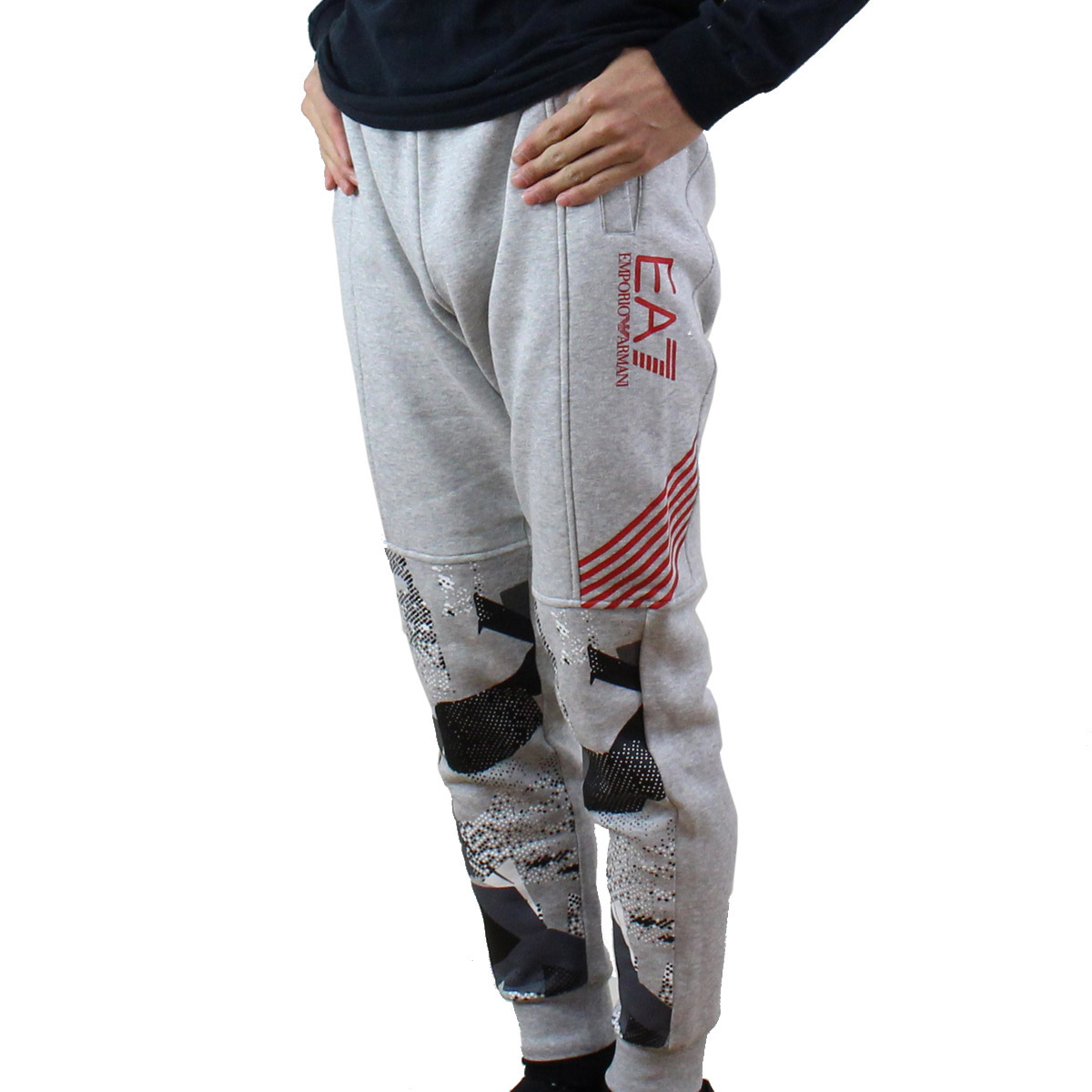 进入E A七EA7人图像转换设计标识运动衫裤子6YPP91 PJ07Z 3904 LIGHT GREY MELANGE灰色派的