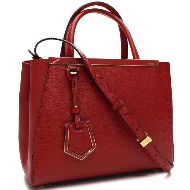 Bighit The total brand wholesale  Fendi (FENDI) PETITE 2JOURS handbag  8BH253-D7E-F 0 V3L Red( taxfree send by EMS authentic A brand new item )  e6ed8b57117f5