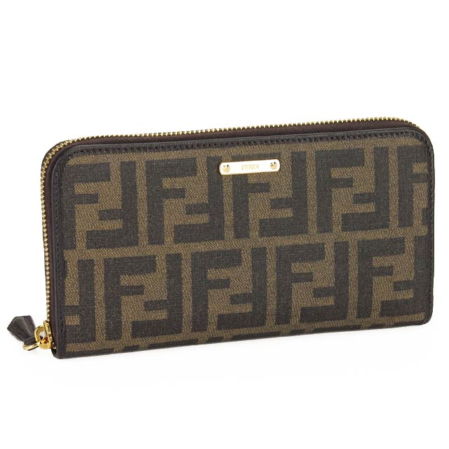 933819fc47a Fendi (FENDI) Zip around wallet coin with 8M0299-00GRP-F 0A72 Brown(  taxfree send by EMS authentic A brand new item )