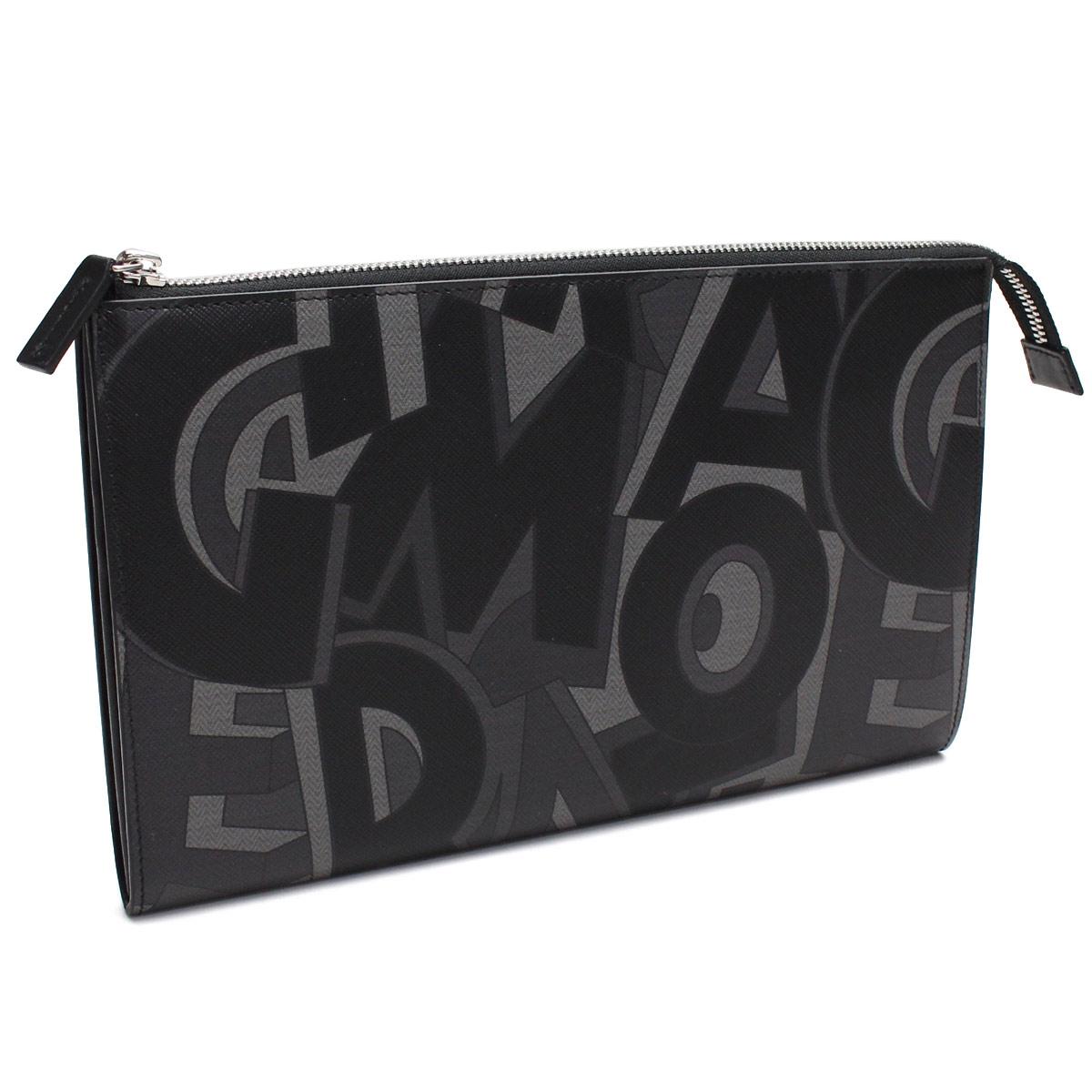 Ferragamo (FERRAGAMO) clutch bag 66-0435 0646108 NERO MULTICOLOR black