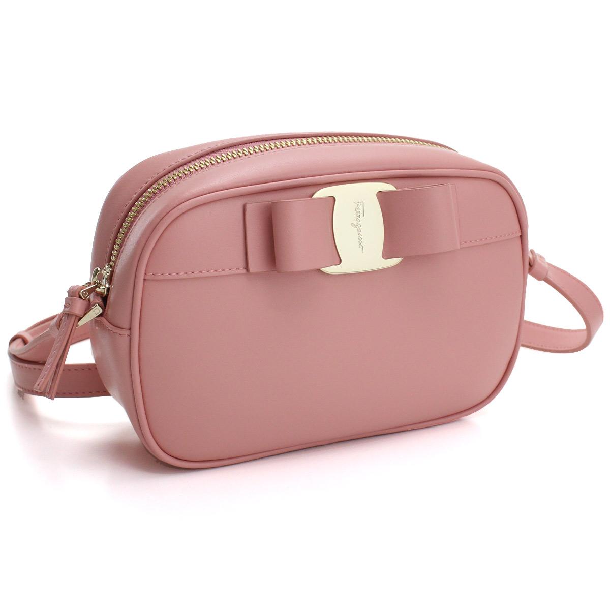 フェラガモ FERRAGAMO ポシェット 21-H498 0726804 DESERT ROSE ピンク系 レディース