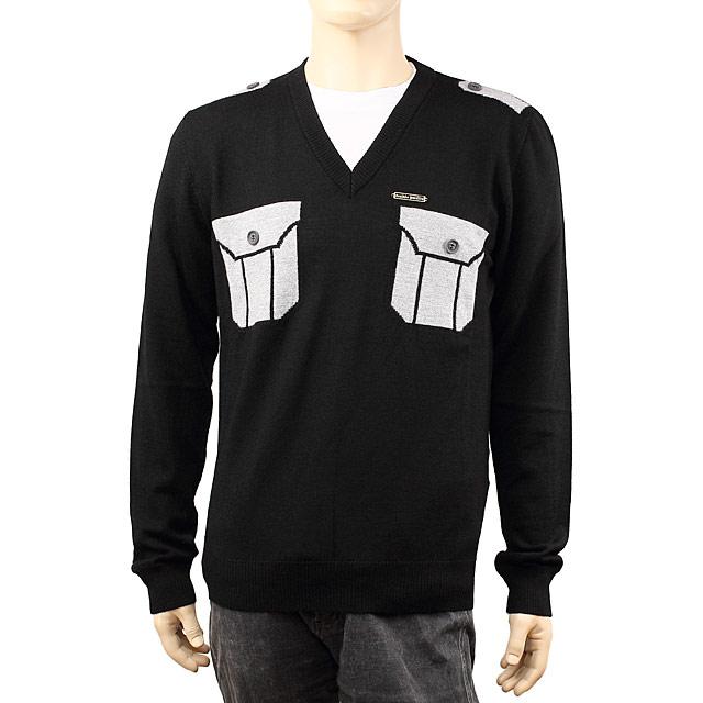 フランキーモレロ FRANKIE MORELLO メンズセーター A019 7010 9000 ブラック【セーター】