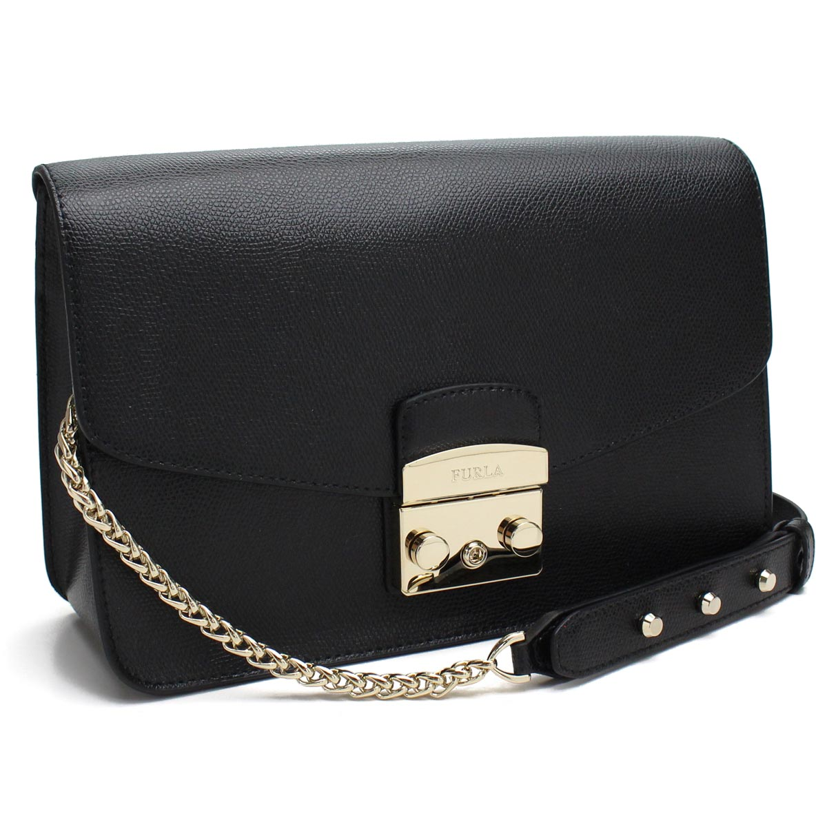 09f957c0b0 Bighit The total brand wholesale  フルラ FURLA METROPOLIS metropolis chain  shoulder bag BHV7 835166 ARE O60 ONYX black