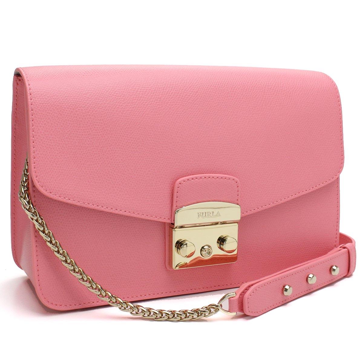 810d80f4cfce フルラ FURLA METROPOLIS metropolis chain shoulder bag BHV7 920375 ARE QRT ROSA  QUARZO pink system