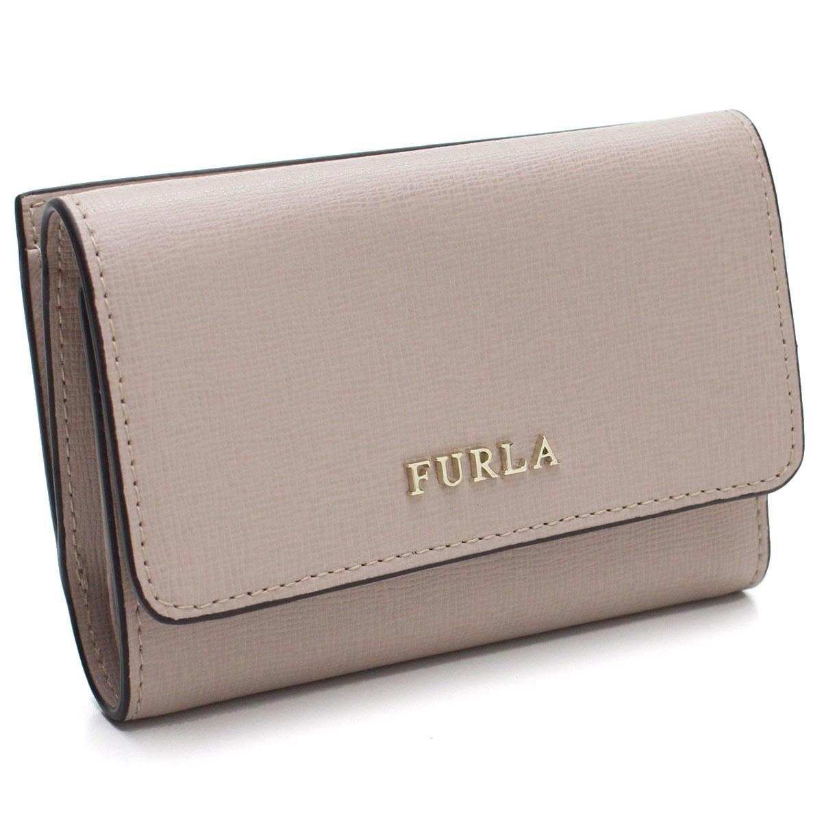フルラ FURLA BABYLON コンパクト 3つ折り財布 PR76 992591 B30 TUK DALIA ピンク系 レディース