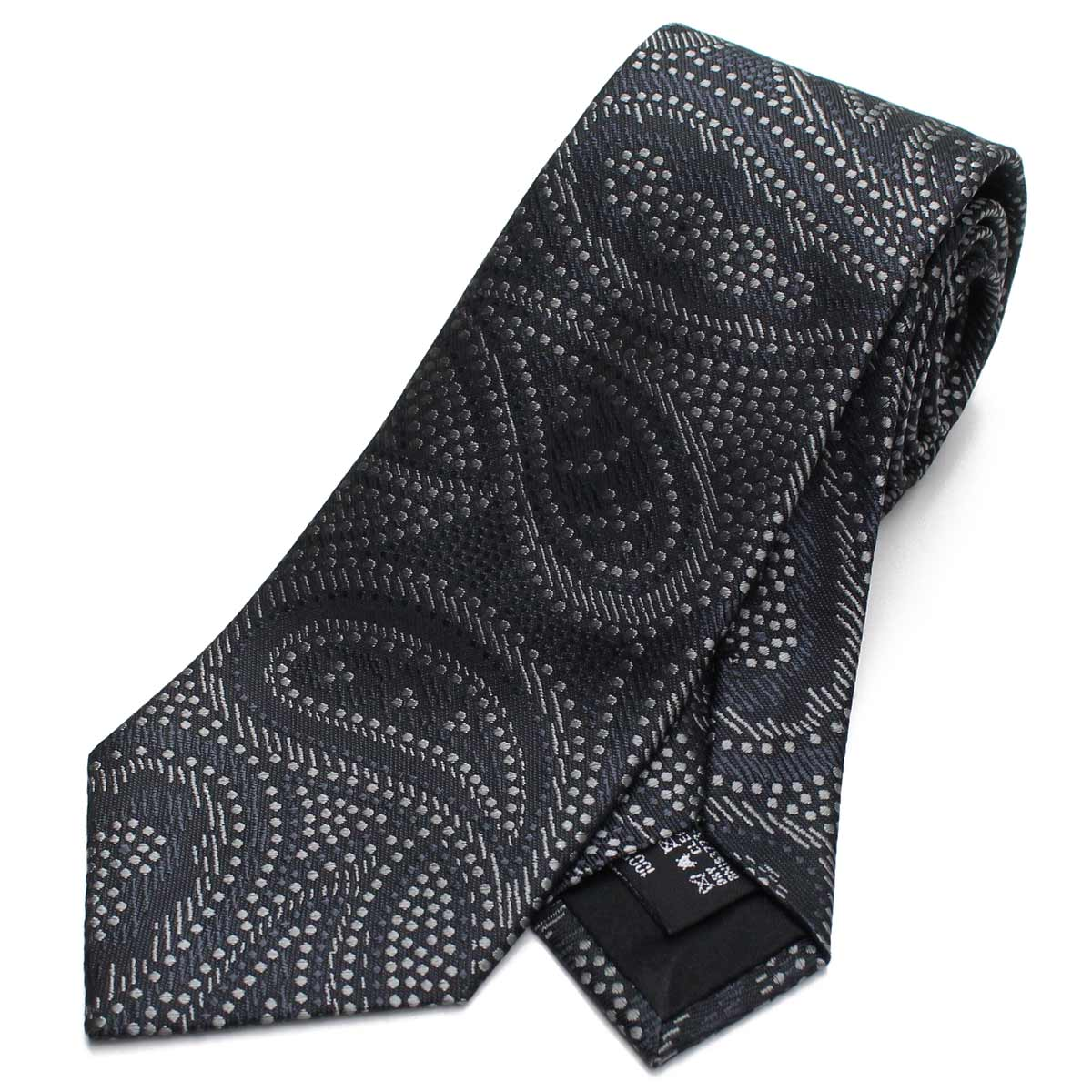 ジョルジオ アルマーニ GIORGIO ARMANI ペイズリー柄 シルク ネクタイ レギュラータイ 360054 8A851 00020 BLACK ブラック 最安値挑戦中 メンズ