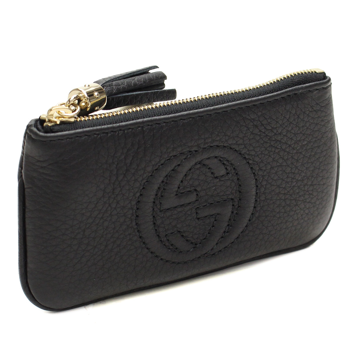 d87b9e71dbdb8e Bighit The total brand wholesale  Gucci (GUCCI) key ring with coin purse  354358-A7M 0G-1000 black( taxfree send by EMS authentic A brand new item )  ...
