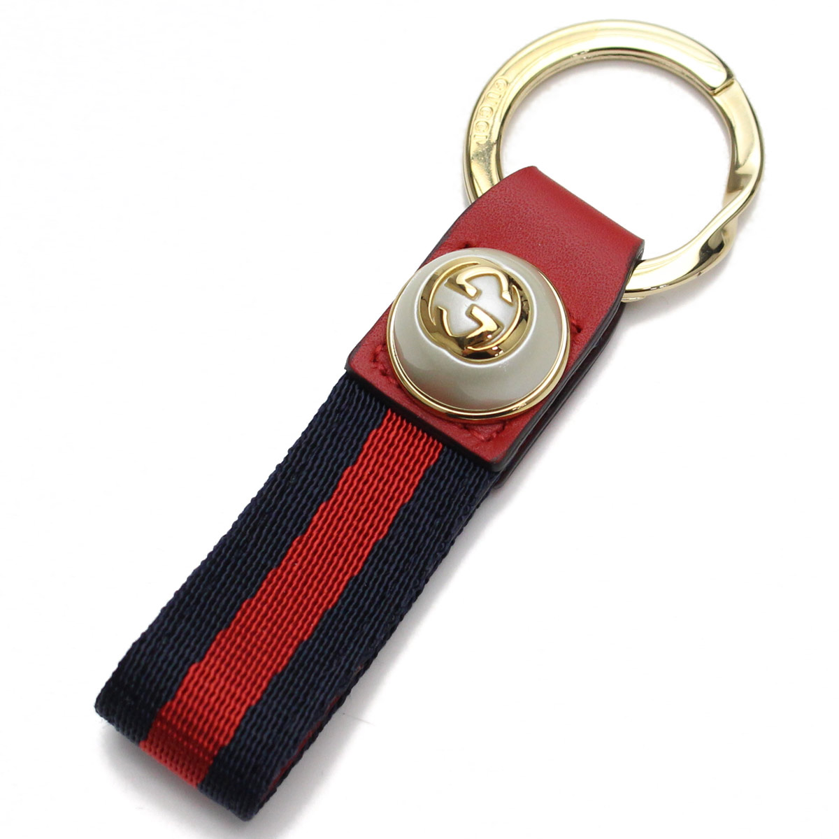 81baa111c50 Bighit The total brand wholesale  Gucci (GUCCI) GG pearl Web key ring  476390 H9VEG 8447 red system blue system