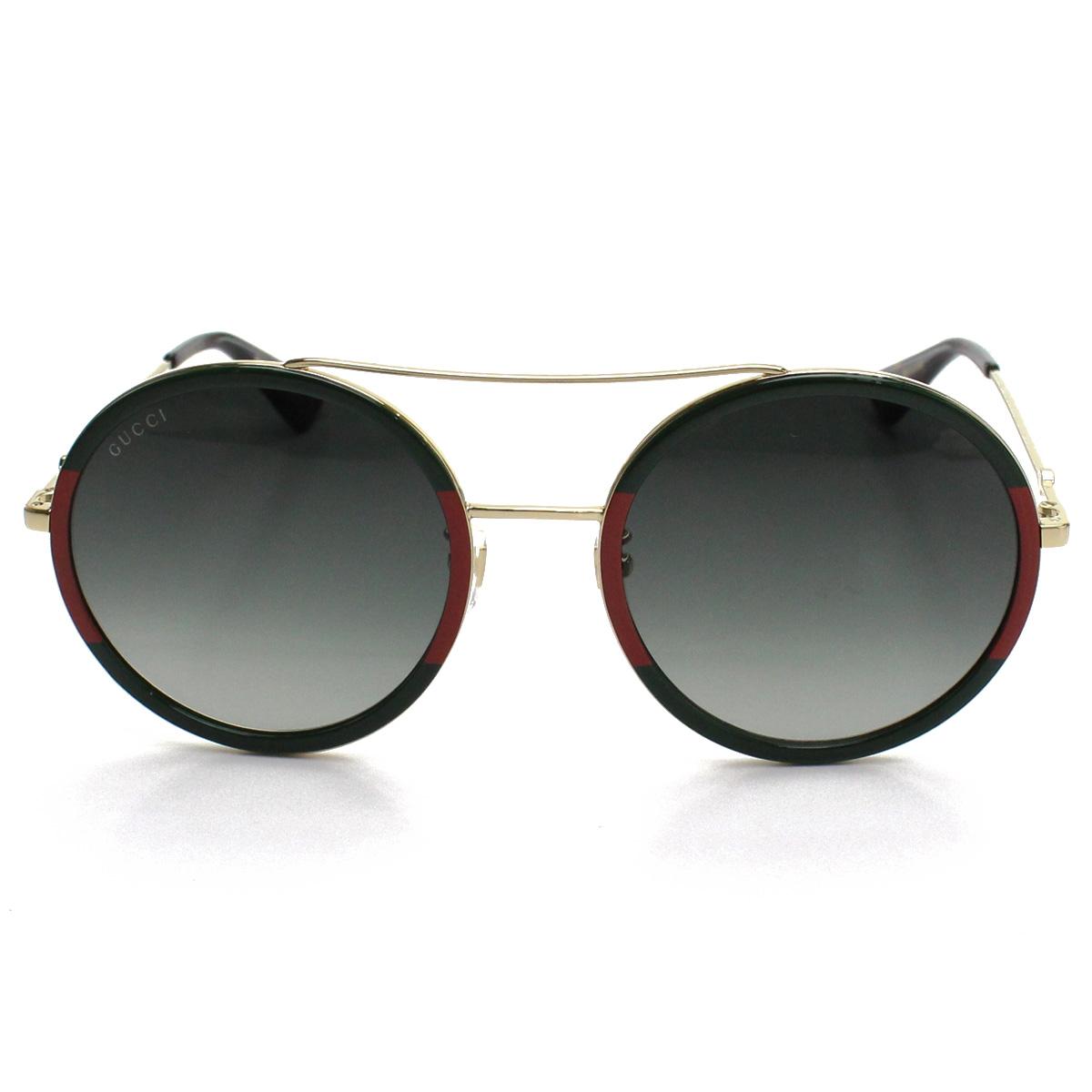 Men of Gucci GUCCI Bumble Bee round sunglasses GG0061S 003 Green line