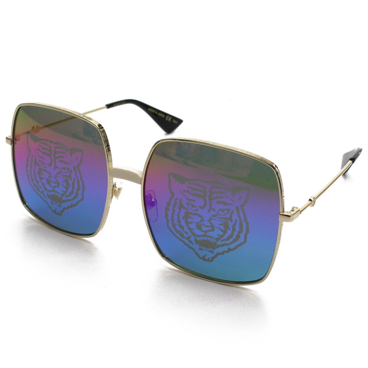 afdb9e29276 Sunglasses of Gucci (Gucci). The print of the head of one tiger of the  symbol of Gucci is put for a gradation lens in a square frame silhouette of  the ...
